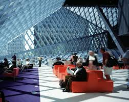seattle public library interior video and photos