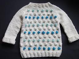 seamless bobble stitch baby sweater allfreeknitting