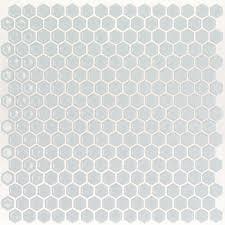 Best 10 Black Hexagon Tile by Splashback Tile Bliss Edged Hexagon Modern Gray 12 In X 12 In X