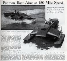 Pontoon Boat Design Ideas by Pontoon Boat Aims At 150 Mile Speed Modern Mechanix