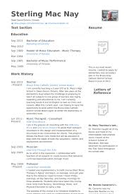 Music Resume Examples by Therapeut Cv Beispiel Visualcv Lebenslauf Muster Datenbank