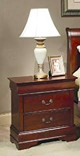 amazon com coaster louis philippe style night stand cherry