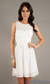 casual white dresses for juniors dress images