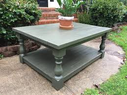 turned leg coffee table diy tutorial chunky coffee table with turned legs the project lady
