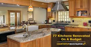 kitchen cabinets on a tight budget kitchen renovations on a budget countertop investigator