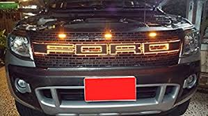 front grill ford ranger amazon com raptor front grill grille awesome orange led light bar