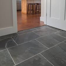Slate Kitchen Floor by Mudroom Primitive Anthracite 13x19 Dark Gray Slate Tile Light