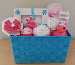 flamingo baby shower gift basket colorfulbows