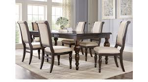 rooms to go dining room westerleigh oak 7 pc rectangle dining room transitional