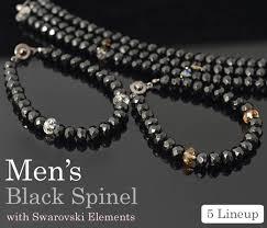 bracelet best images Imore mens bracelet 8 mm black spinel swarovski elements quot jpg