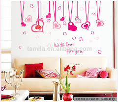 Heart Wall Stickers For Bedrooms Pink Style Love Heart Shape Wall Sticker For Lving Room Bedroom