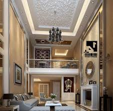 awesome high ceiling lights combined with luxurious chandelier for