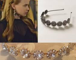 reign tv show hair beads reign headband etsy