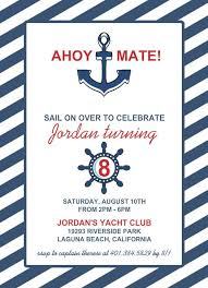 nautical party invitation templates best 25 nautical birthday