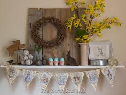 easter mantel decorations rustic easter decor at the end loft easter rustic