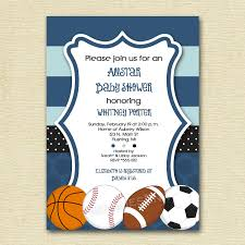 mod allstar sports theme baby shower or birthday party invitation