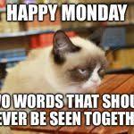Grumpy Cat Monday Meme - grumpy cat table blank meme template imgflip
