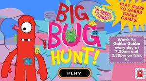 yo gabba gabba big bug hunt yo gabba gabba games