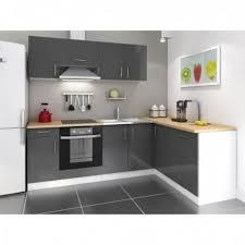 cuisine d angle pas cher cuisine d angle laqué gris réversible 240x160 cm achat vente