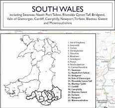 wales county planning wall map