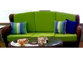 custom flat wicker sofa cushions 3 backs u0026 3 seats