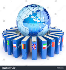Books About Flags Books Flags Countries Earth Elearning Concept Stock Illustration