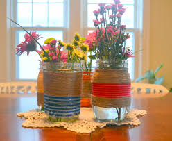 Mason Jar Vases Two Birds Bird I Y Wrapped Mason Jar Vases