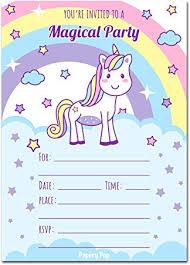 birthday invitations unicorn birthday invitations with envelopes 15 count