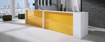 Yellow Reception Desk Semicircular Reception Desk Corner Modular Illuminated