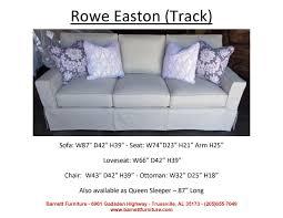 Rowe Ottoman Barnett Furniture Slipcover Sofas Sectionals Chair And Ottoman