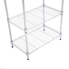 Baker Rack Homcom Utility Shelving Kitchen Cart Chrome Plated Wire Microwave