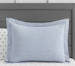 yarn dye ticking stripe duvet cover pottery barn kids