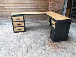 bureau angle bois bureau style industriel en mtal et bois large size of bureau