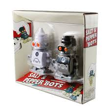 wind up salt and pepper robots the green head