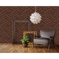 Textured Herringbone Walnut Is From The Tempaper Textured