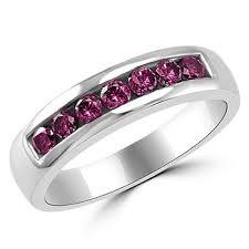 pink wedding rings 0 70ct purple pink diamond men s channel wedding ring band