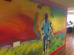morning joe u0027 office now features a giant mural of joe scarborough