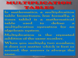11 Multiplication Table Multiplication Tables 11 To 20 Authorstream