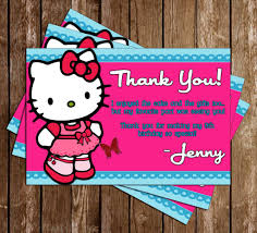 Hello Kitty Invitation Card Maker Free Novel Concept Designs Hello Kitty Birthday Party Thank You Printable
