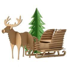 cute decoration christmas tree reindeer snow sledge toys kids