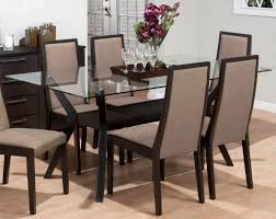 Dining Table And Fabric Chairs Dining Room Cool Ideas Of Glass Top Dining Table Kropyok Home