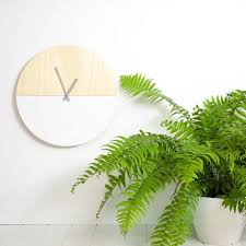 scandinavian wall clock scandinavian snow half moon clock by amindy u2013 bean home u0026 body