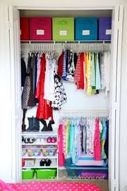 kid friendly closet organization organized little girls closet utilizing space with 2 rows to hang