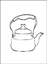 coloring pages of kitchen things kettle coloring page coloring pages