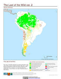 The Map Of South America by Maps Last Of The Wild V2 Sedac