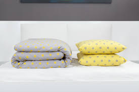 yellow and grey polka dot duvet cover set yellow and grey polka