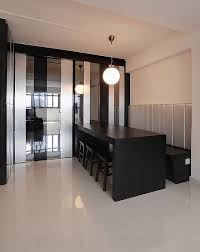 black dining table with bench minimalist dining room ideas designs photos inspirations