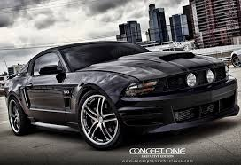 Matte Black 2005 Mustang Concept One Wheels Rs 55 Matte Black Machined Executive Edition