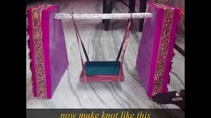 How To Make Swing Bed by How To Make A Krishna Janmashtami Handmade Jhula In Just One