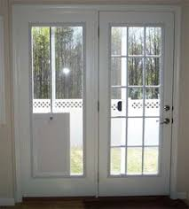 pet door in sliding glass french patio doors with built in dog door renovations